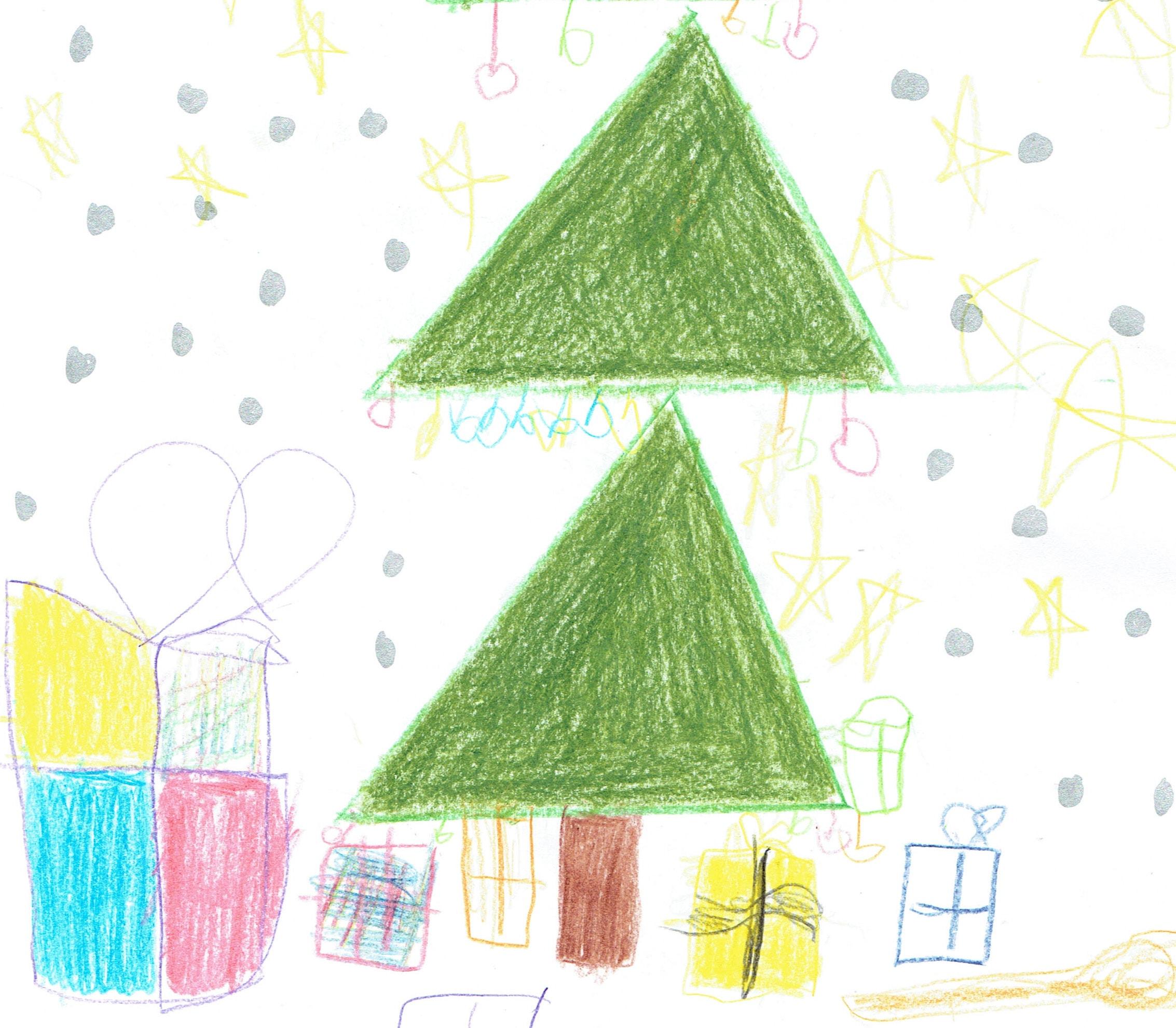 Weihnachtsbild von Schüler Jack