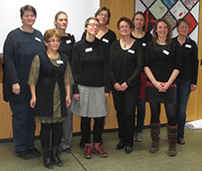 Abschlussfeier der 1. Taubblindenassistenten-Qualifizierung im Deutschen Taubblindenwerk in Hannover