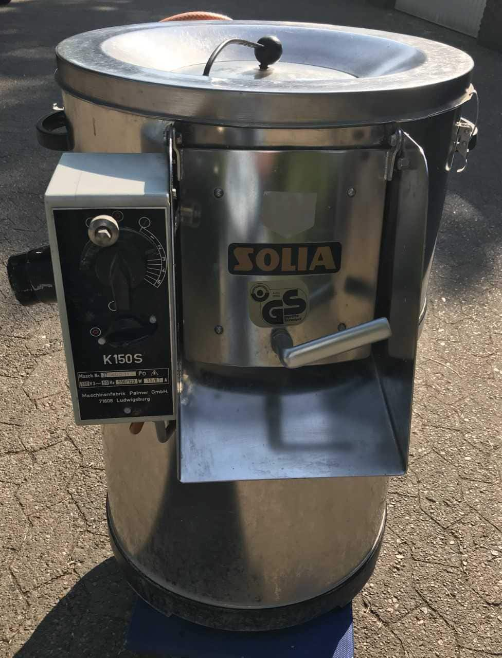 SOLIA Schälmaschine K 150 S: Zum Schälen und Waschen von Kartoffeln, Sellerie und Karotten