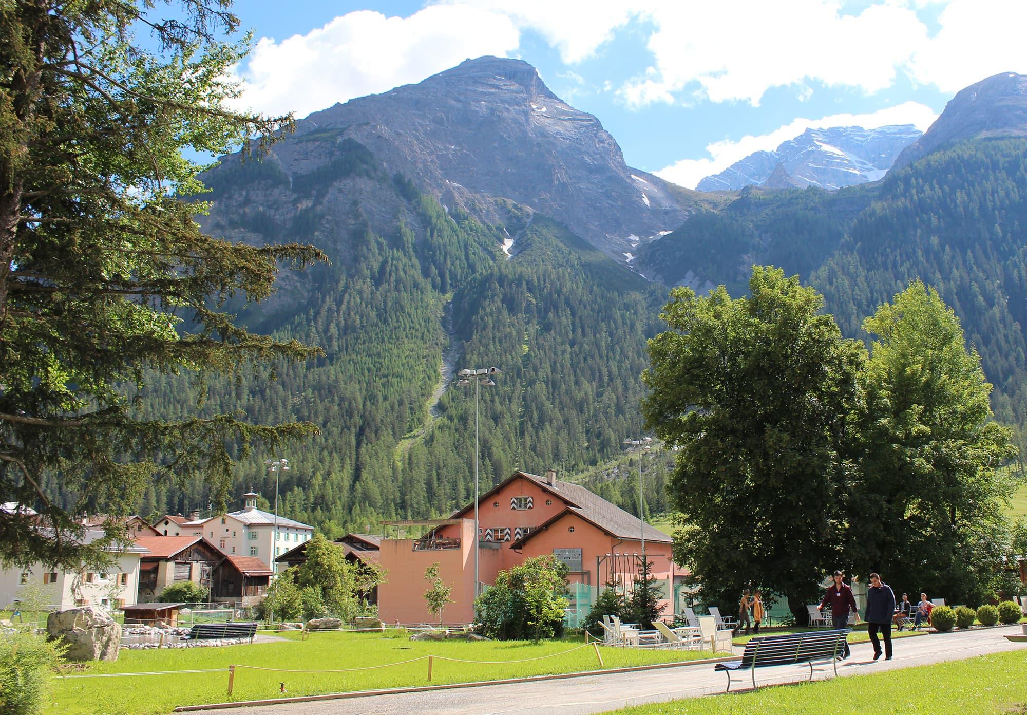 Die Schweizer Alpen boten eine prächtige Kulisse