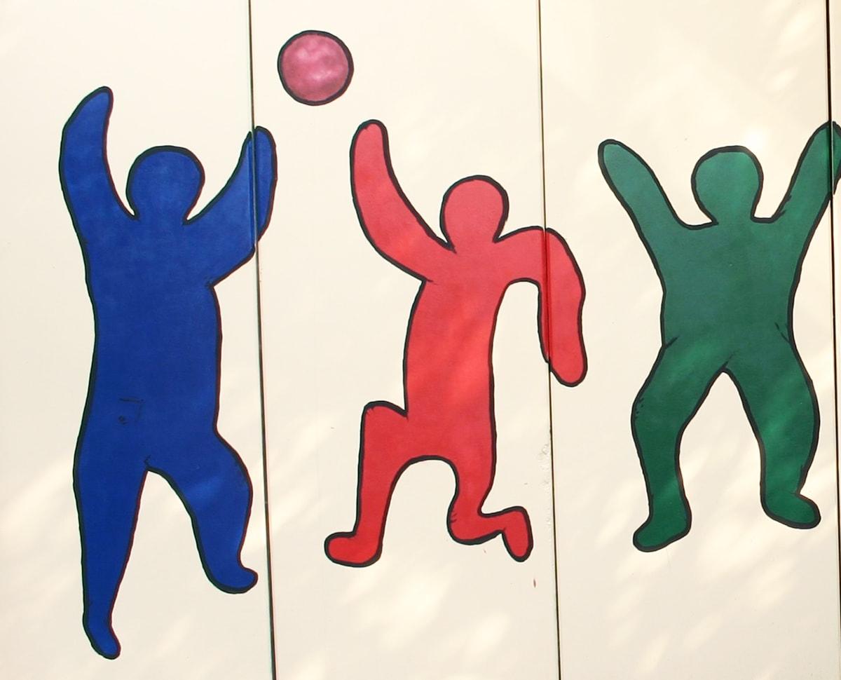 Malerei mit Figuren