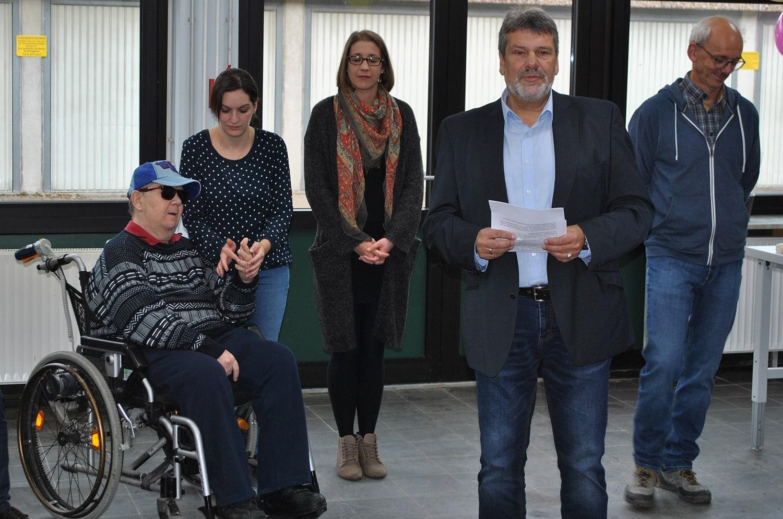 Michael Böhle leitet die Werkstätten und freut sich über die Neueröffnung