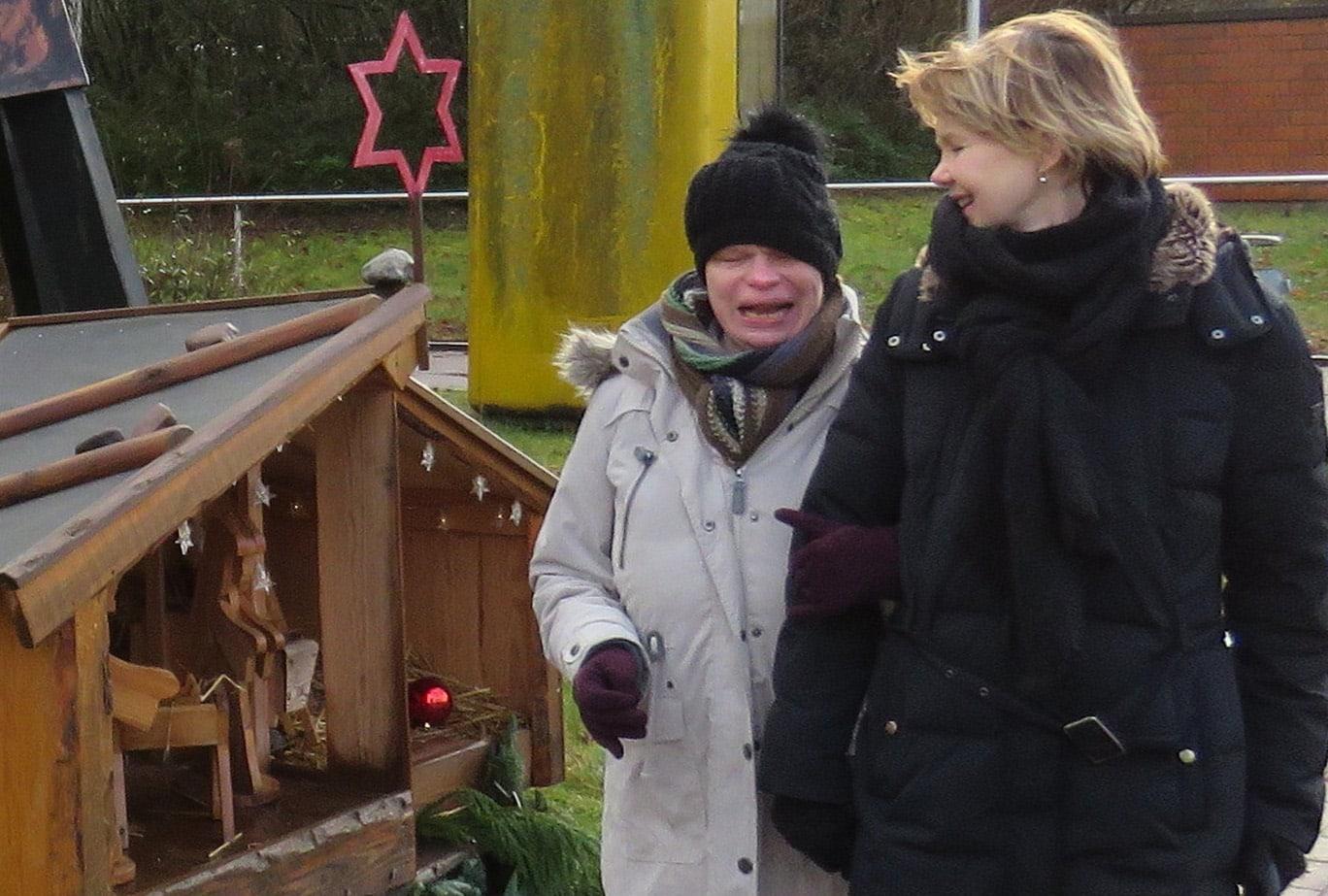 Steffi Lampe mit Betreuerin Frauke Kornemann