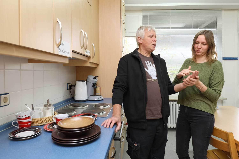 Franz Pirker mit Betreuerin Ina Radtke